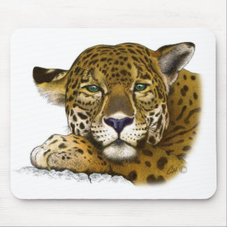 Jaguar colored mouse pad