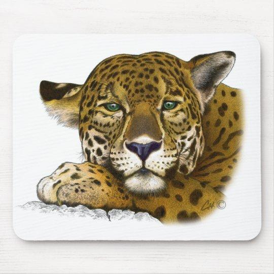 Jaguar colored mouse pad