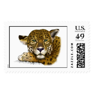 Jaguar colored postage
