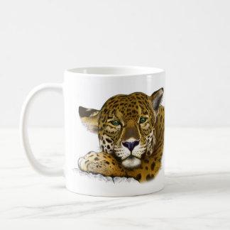 Jaguar coloreó taza clásica
