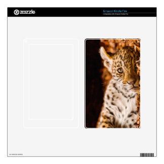 Jaguar Cub Lying in Foliage Kindle Fire Skins