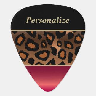 Jaguar de color rojo oscuro y negro el | púa de guitarra
