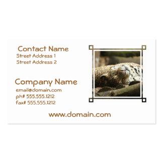 Jaguar de reclinación plantillas de tarjetas personales