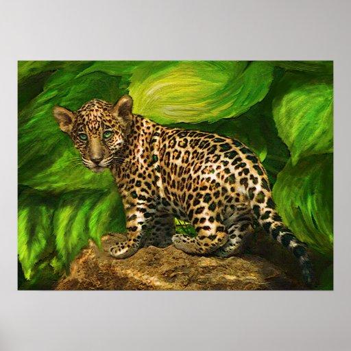 jaguar del bebé posters