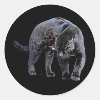 Jaguar Diablo small round stickers