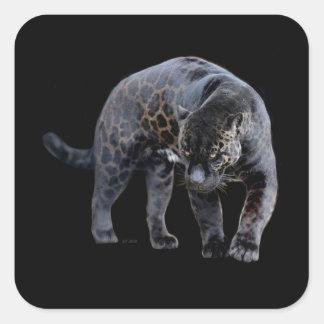 Jaguar Diablo small square stickers