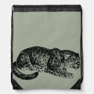 Jaguar Drawstring Backpack