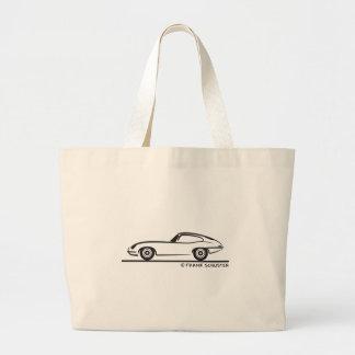 Jaguar E-Type Coupe Large Tote Bag