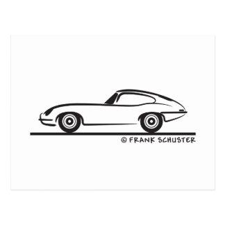Jaguar E-Type Coupe Postcard