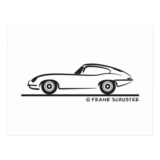 Jaguar E-Type Coupe Postcard