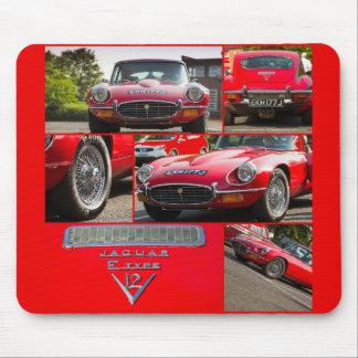 Jaguar E-Type V12 Mouse Pad