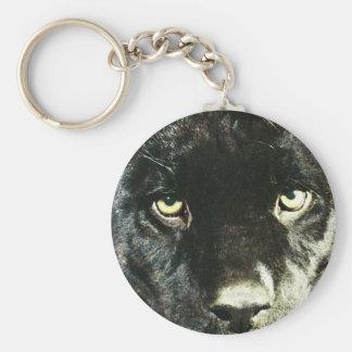 Jaguar Eyes Basic Round Button Keychain