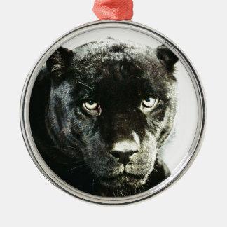Jaguar Eyes Metal Ornament