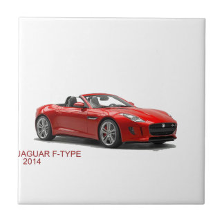 Jaguar F-TYPE 2014 Azulejo Cuadrado Pequeño