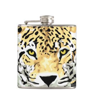 Jaguar Face Hip Flask