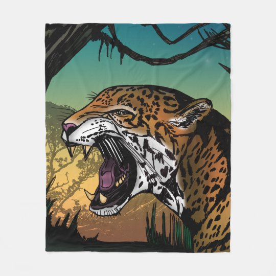 Jaguar Blanket: Jaguar Fleece Blanket
