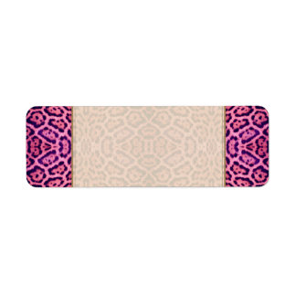 Jaguar Fur in Pink and Purple Label
