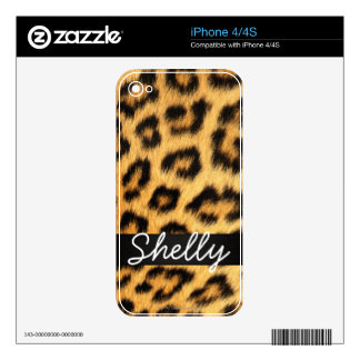Jaguar Fur iPhone Skin Decals For The iPhone 4