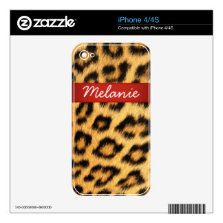Jaguar Fur iPhone Skin Decals For The iPhone 4S