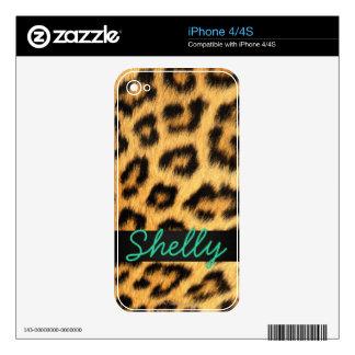 Jaguar Fur iPhone Skin iPhone 4S Decals