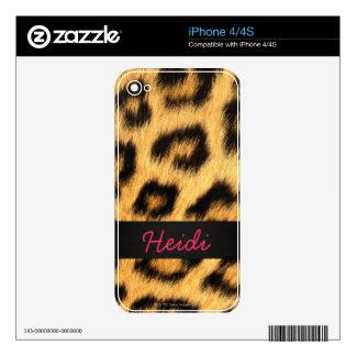 Jaguar Fur iPhone Skin Skins For iPhone 4