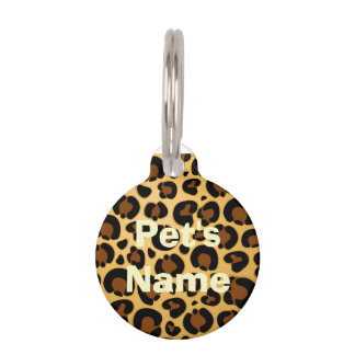Jaguar Fur Pattern Round_Pet_Tags Pet ID Tag