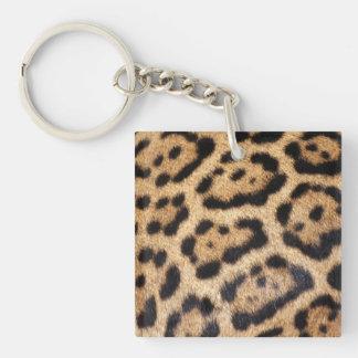 Jaguar Fur Photo Print Single-Sided Square Acrylic Keychain