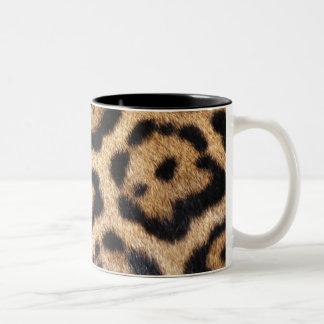 Jaguar Fur Photo Print Two-Tone Coffee Mug