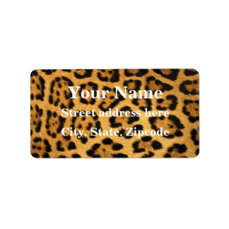 Jaguar Fur Print Label