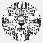 Jaguar-garabato Etiqueta Redonda