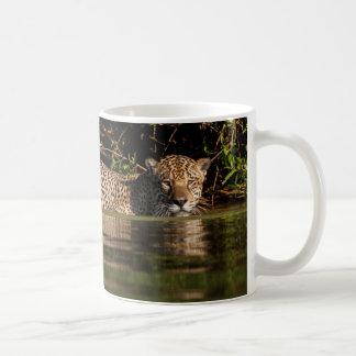 Jaguar Going for a Swim Coffee Mug