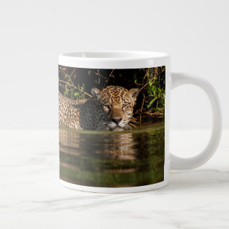 Jaguar Going for a Swim Large Coffee Mug