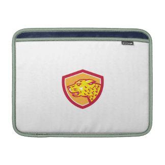 Jaguar Head Side Growling Shield Retro MacBook Air Sleeves