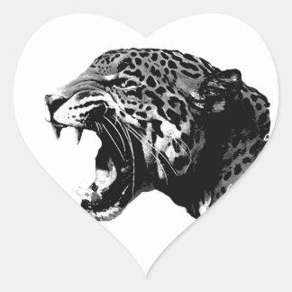 Jaguar Heart Sticker