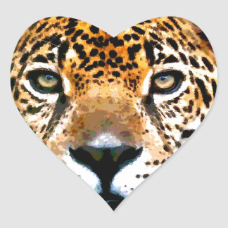 Jaguar Heart Sticker