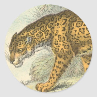 Jaguar Illustration Classic Round Sticker