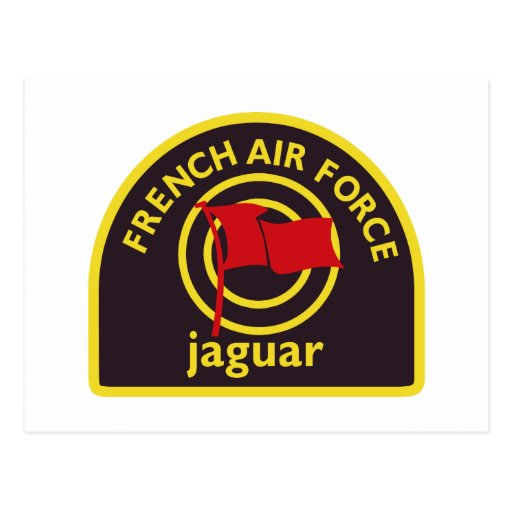 Jaguar Kampfflugzeug Abzeichen Tarjeta Postal