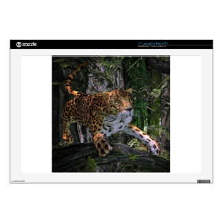 Jaguar leaping in the forest skins for laptops