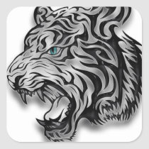 Jaguar Leopard Print  Panther Pattern Square Sticker
