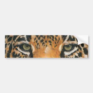 Jaguar llamativo etiqueta de parachoque