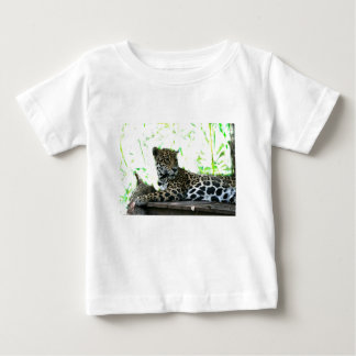 Jaguar looking over shoulder dappled green baby T-Shirt