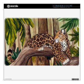 Jaguar lying in jungle skin for MacBook