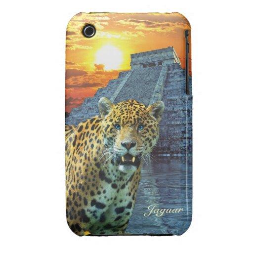 Jaguar manchado y caso del iPhone del Animal-Amant iPhone 3 Fundas