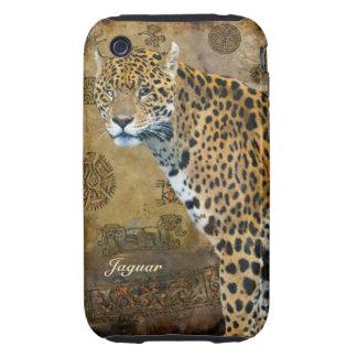 Jaguar manchado y caso del iPhone del iPhone 3 Tough Carcasa