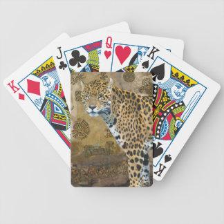 Jaguar manchado y cubierta maya del gato grande de barajas