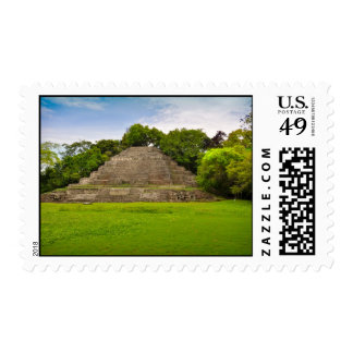 Jaguar Mayan Temple Belize Central America Postage