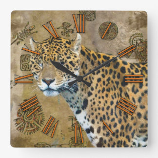 Jaguar & Mayan Temple Ruins Wildlife Wall Clock