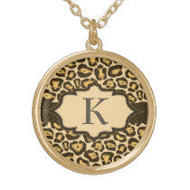 Jaguar Monogram Ribbon Necklace