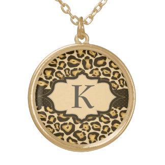 Jaguar Monogram Ribbon Necklace
