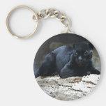 Jaguar negro llavero